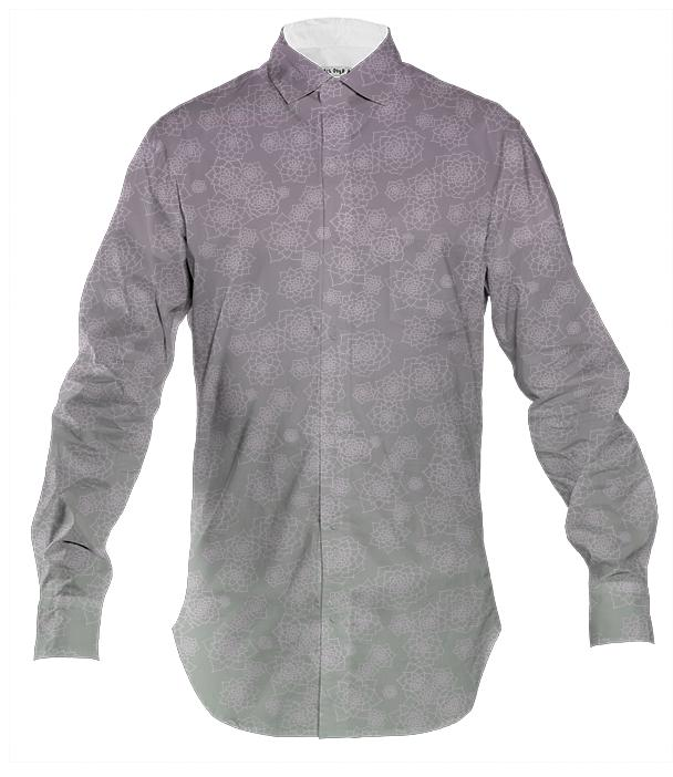 Desert Fade Mens Button Down Shirt