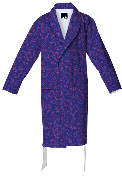 Purple Bug Cotton Robe