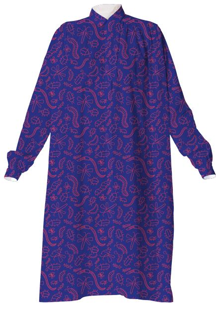 Purple Bug Shirtdress