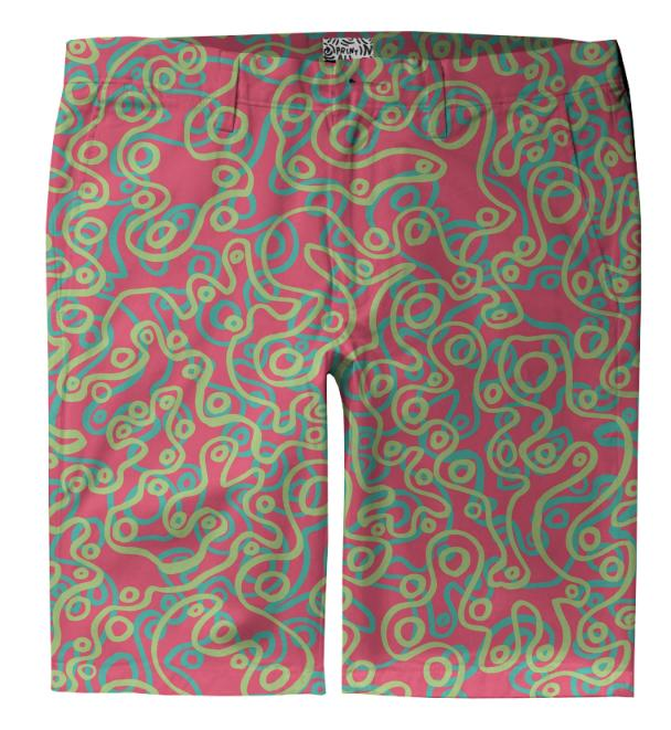 Neon Bubble Trouser Shorts