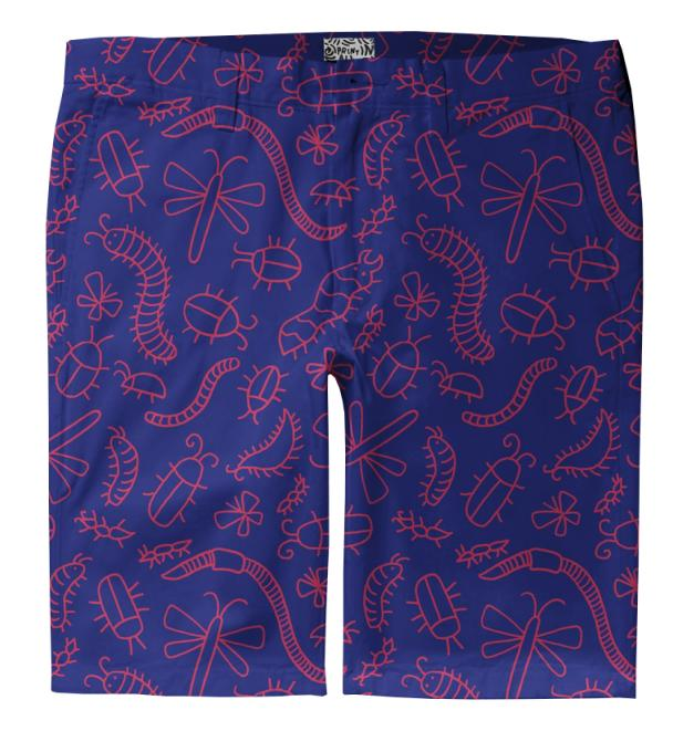 Purple Bug Trouser Shorts