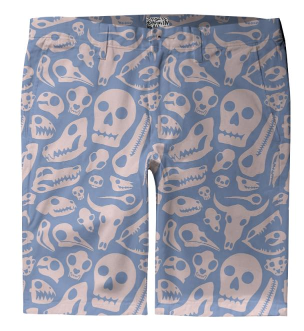 Soft Skulls Trouser Shorts