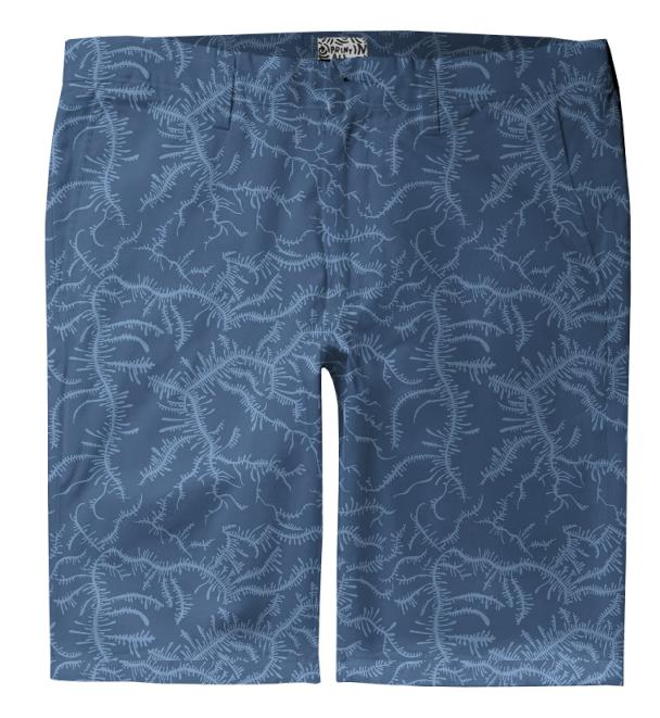 Ferning Blue Trouser Shorts