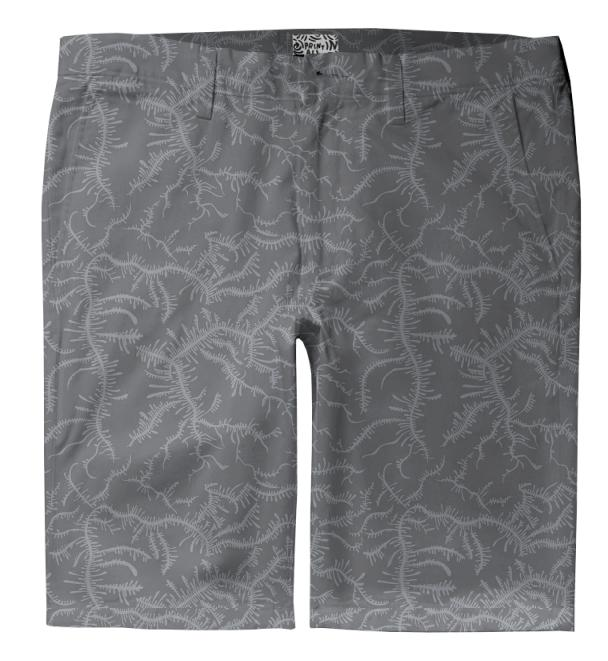 Ferning Gray Trouser Shorts