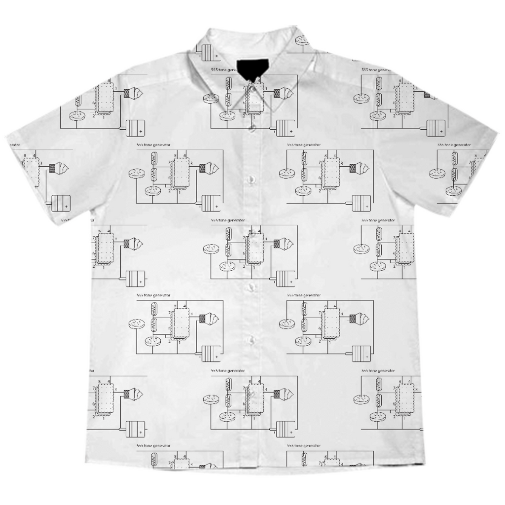 Dessert Circuit B&W - Button Up Blouse