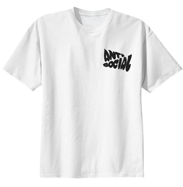 anti social tee black logo