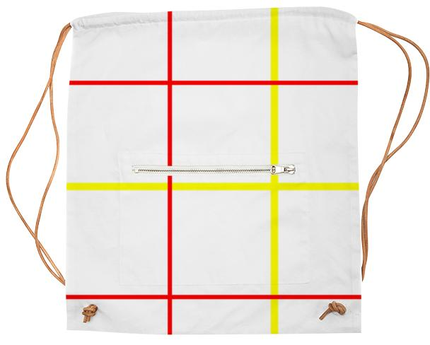 Gridline Drawstring Bag