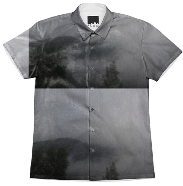 Foggy mountain Button Down
