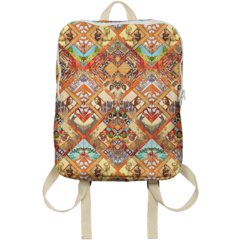 PAOM, Print All Over Me, digital print, design, fashion, style, collaboration, babyboofiji, Backpack, Backpack, Backpack, Fiji, Ancestors, autumn winter spring summer, unisex, Poly, Bags
