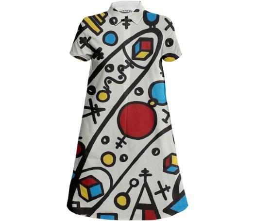 New Maths Mini Shirt Dress