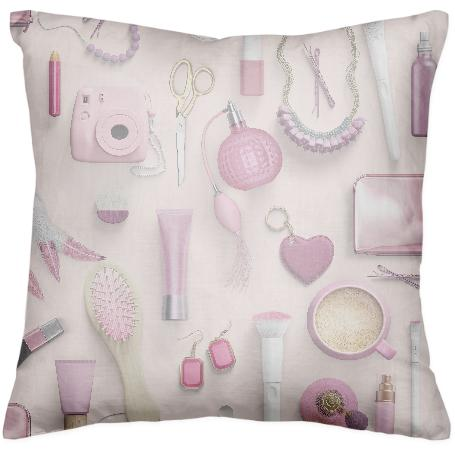 Pink Vanity Table Pillow