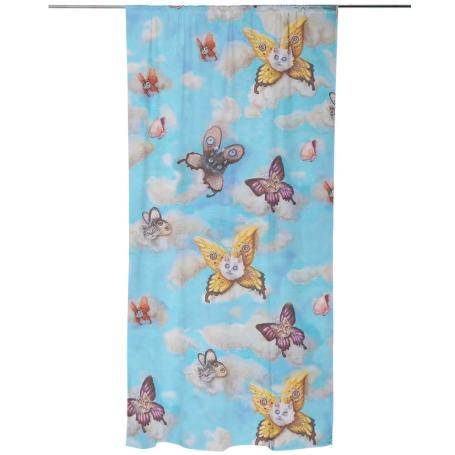 cat faeries curtain by nefertara