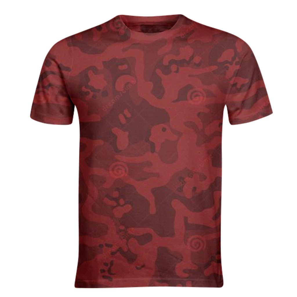 army red texture design on shirts