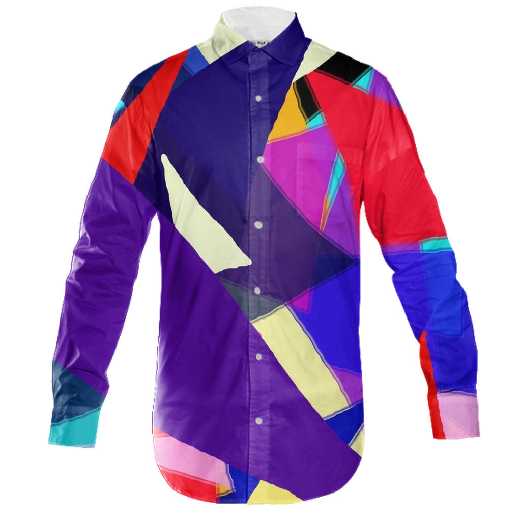 Triangles Abstract Mens Button Down