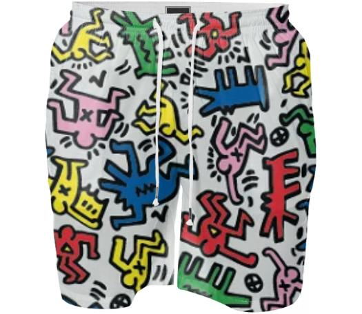 keith haring swim shorts