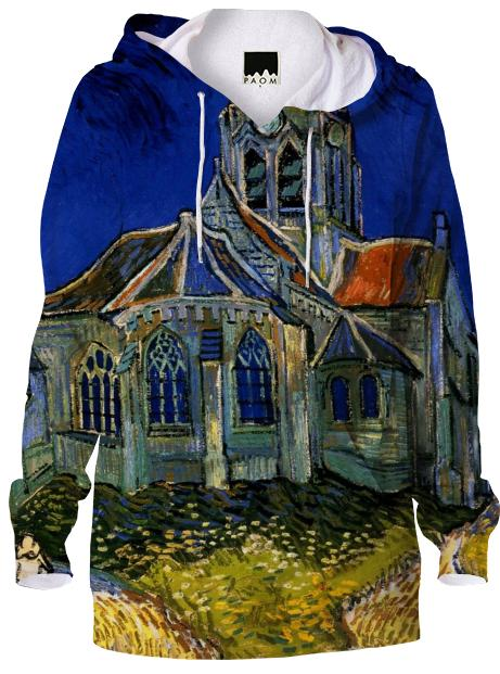 The Church at Auvers Hoodie
