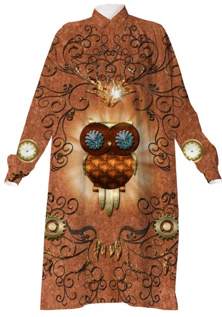 Steampunk cute owl
