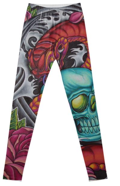 Skull Dragon Leggings