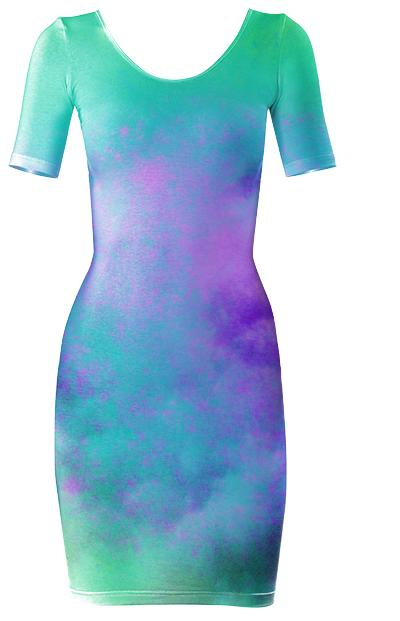 Colour Skies Bodycon Dress