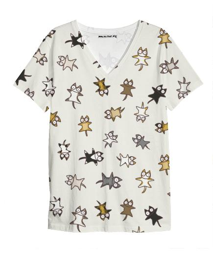 Lots of Cats V Neck Shirt