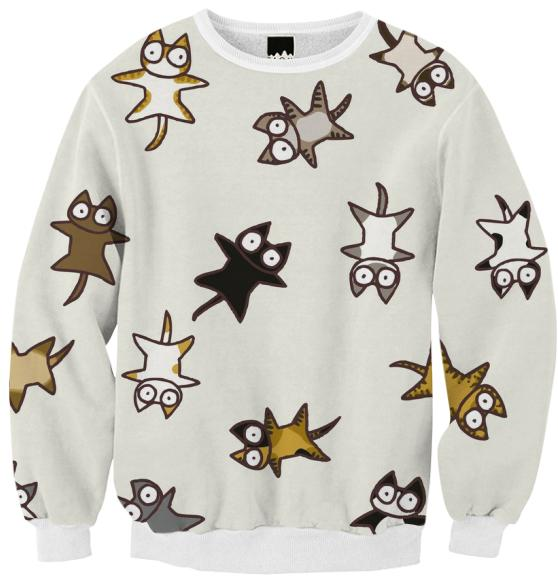 Lots of Cats Ribbed Sweatshirt