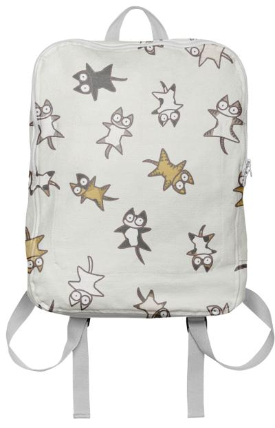 Lots of Cats Ivory white Backpack