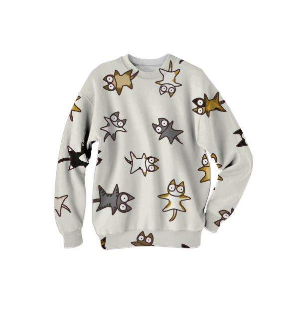 Lots of Cats Ivory white Sweatshirt