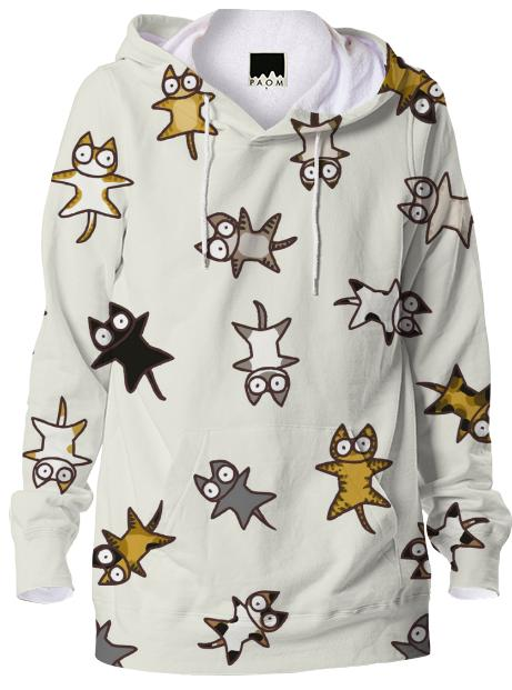 Lots of Cats Ivory white Hoodie