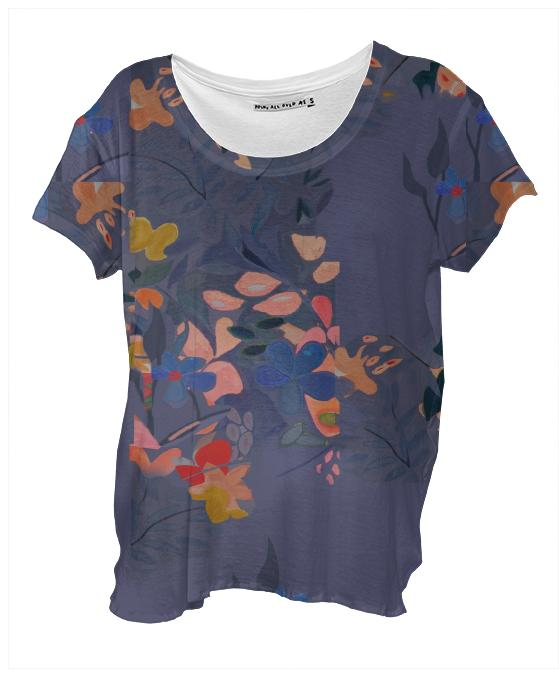 Layered Floral Drapey T