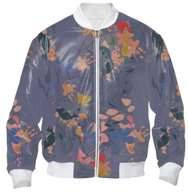 Layered Floral Bomber Jacket