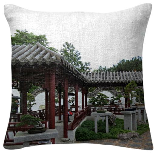 Chinese Garden Pillow