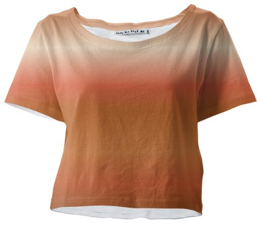 Peaches and Chocolate Crop Tee