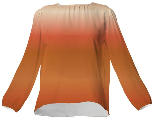 Peaches and Chocolate VP Silk Top