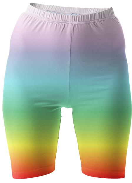 Rainbow Bike Shorts
