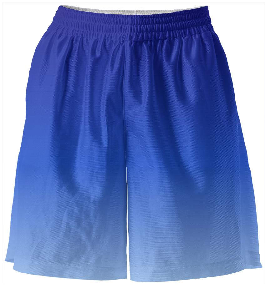 Blue Fade Basketball Shorts