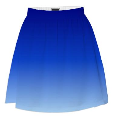 Blue Fade Summer Skirt