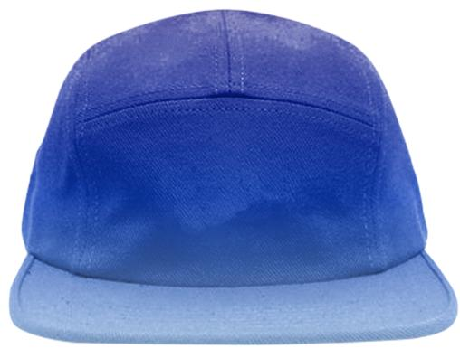 blue fade baseball hat