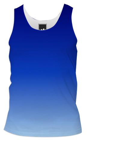 Blue Fade Tank TOp Men
