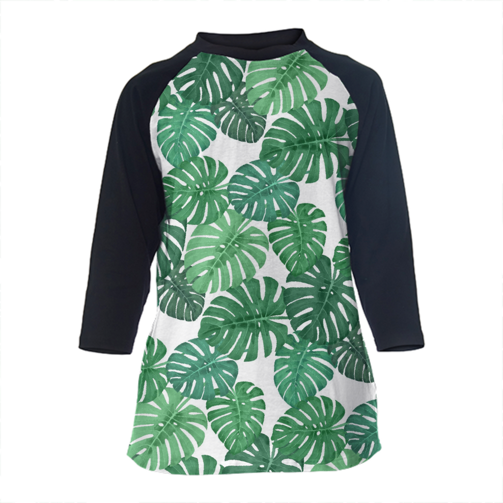 Monstera Jungle Baseball Shirt by Frank-Joseph