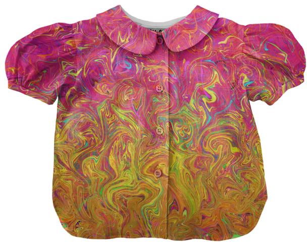 Kids Blouse Fluid Colors G27