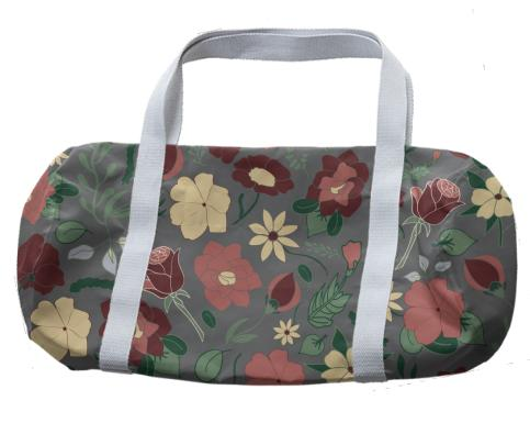 Medium Print Floral Duffal Bag