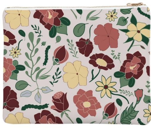 Light Floral Neoprene Clutch