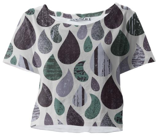 Rainy Day Crop Tee
