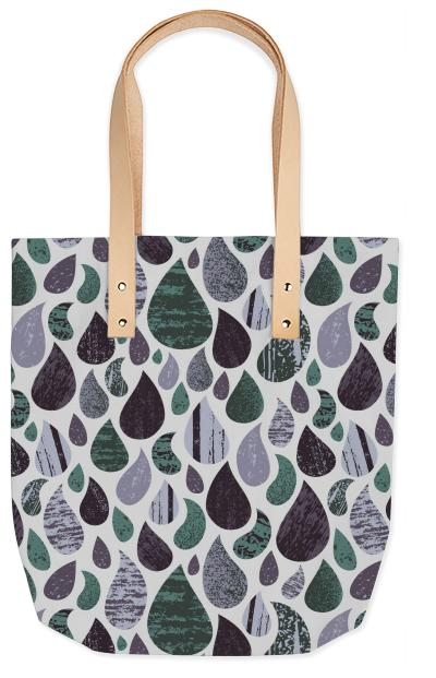 Rainy Day Tote with Leather straps