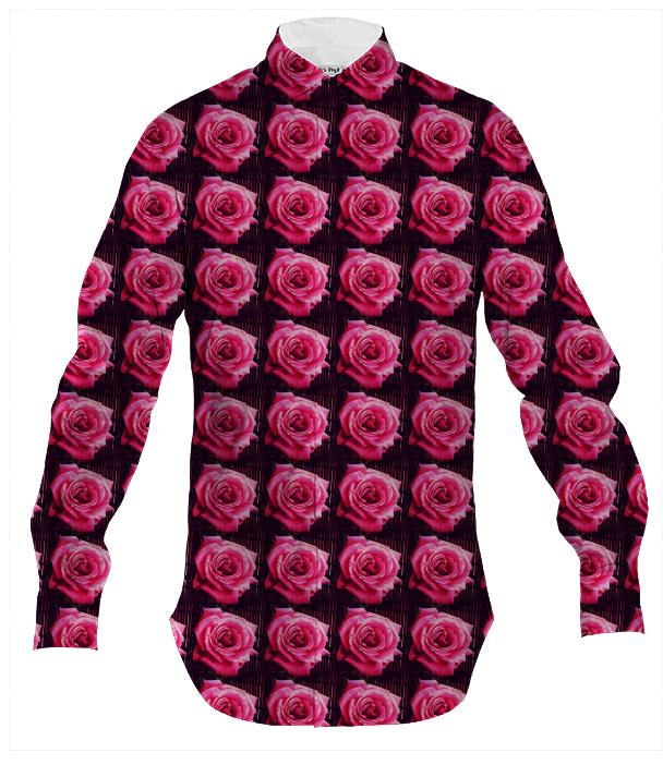 Mens Rose Button Down
