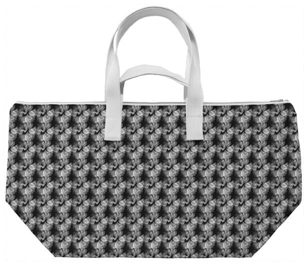 Silver Flower Weekend Bag
