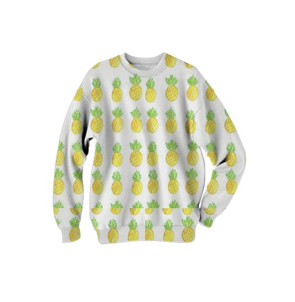 Pineapple design sweatshirt