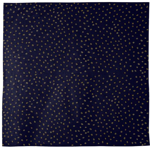 Gold Navy Dots Bandana