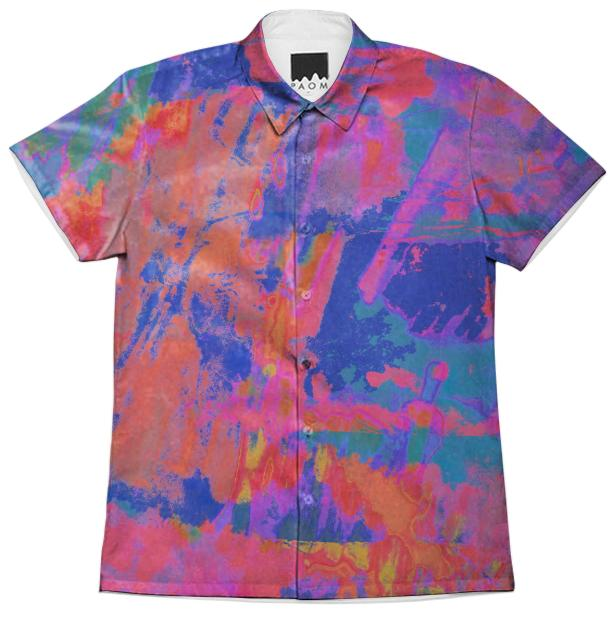 PAOM, Print All Over Me, digital print, design, fashion, style, collaboration, clothh, Short Sleeve Workshirt, Short-Sleeve-Workshirt, ShortSleeveWorkshirt, Clothh, PAOM, spring summer, unisex, Cotton, Tops