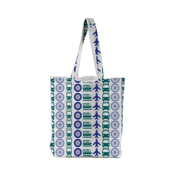 Turquoise Movement Tote